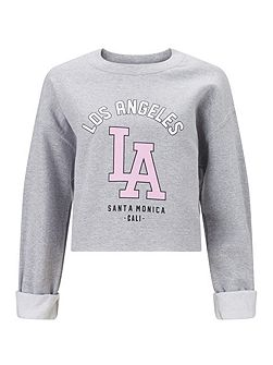 La Cropped Sweat