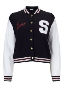 Miss Selfridge Petites College Bomber Jacket