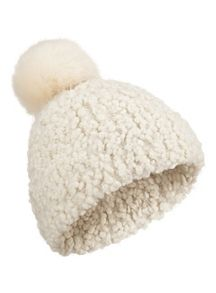 Miss Selfridge Popcorn Yarn Pom Hat