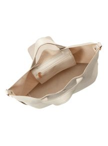 Miss Selfridge Cream Slouch Bag