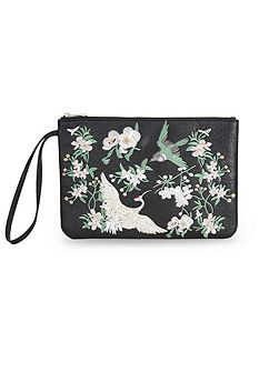 Embroided Clutch Bag