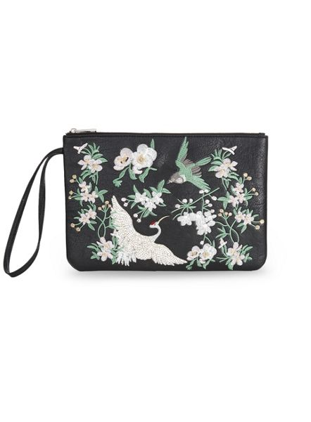 Miss Selfridge Embroided Clutch Bag