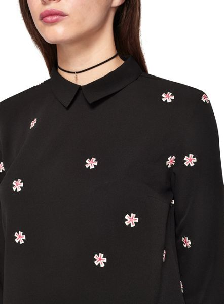 Miss Selfridge Floral Embroidered Blouse