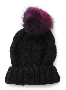Miss Selfridge Double Fur Pom Beanie