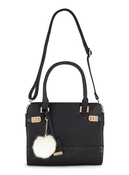 Miss Selfridge Midi Twist Lock Tote