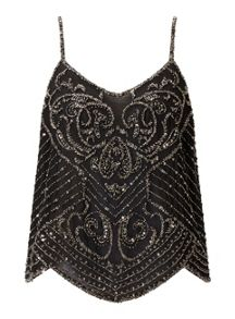 Miss Selfridge Silver Bead Emb Cami