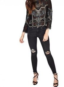 Miss Selfridge Allegra Crop Blouse