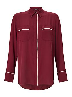 Burgundy Tipping Shirt