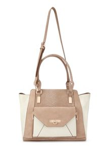 Miss Selfridge Contrast Oversized Tote