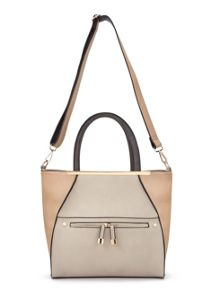 Miss Selfridge Metal Bar Tote