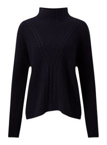 Miss Selfridge Nvy Cable Chunky Jumper