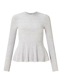 Gry Ls Gdt Peplm Top