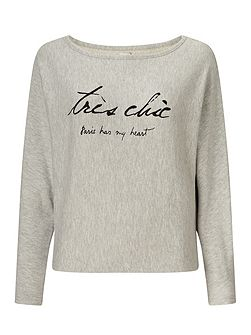 Embroidered Tres Chic Sweater