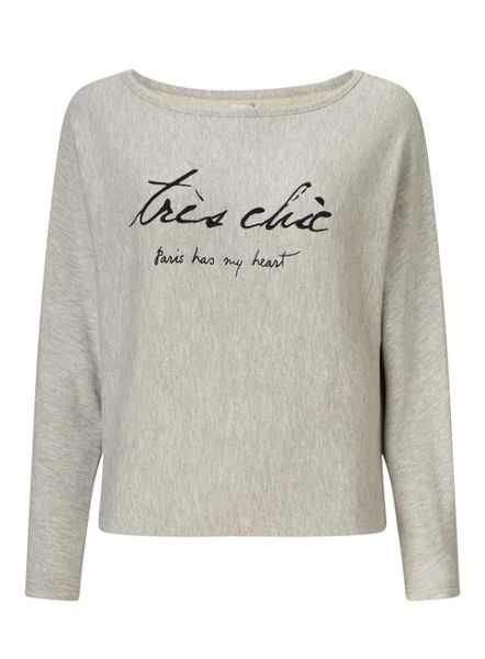 Miss Selfridge Embroidered Tres Chic Sweater
