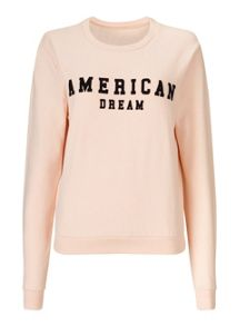 Miss Selfridge Nude American Dream Sweatshirt