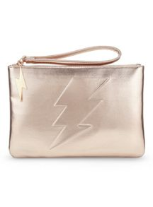 Miss Selfridge Lightning bolt clutch