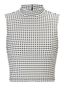 Miss Selfridge Petites Gingham Shell Top