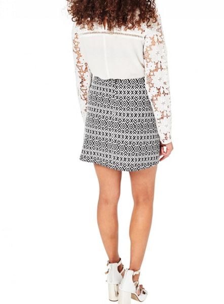Miss Selfridge Petites Geo Print Mini Skirt