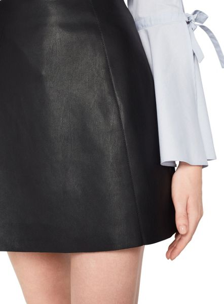 Miss Selfridge Black Pu Aline Mini Skirt