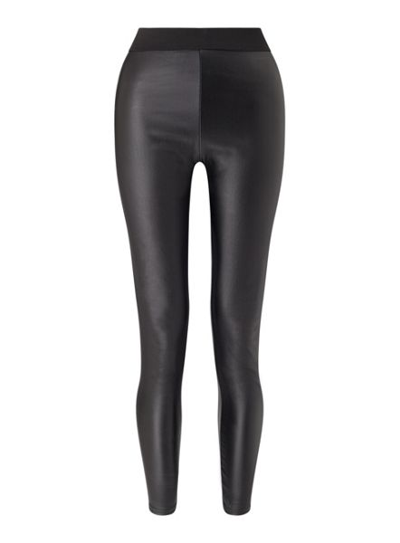 Miss Selfridge Black Pu Coated Legging