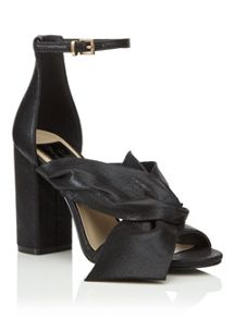Miss Selfridge Candy Bow Sandal Black