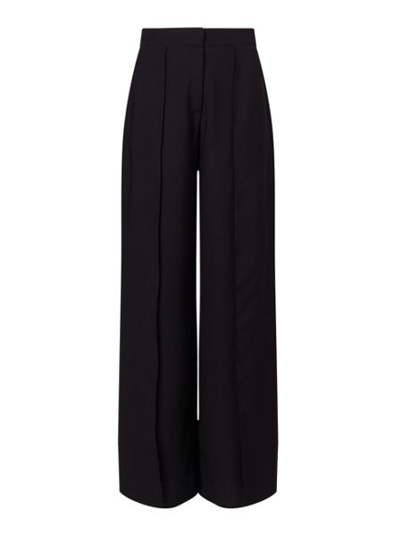 Miss Selfridge Black Split Front Trousers