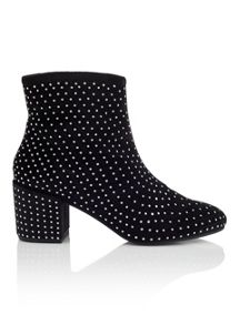 Miss Selfridge Azalea Velvet Stud Boot