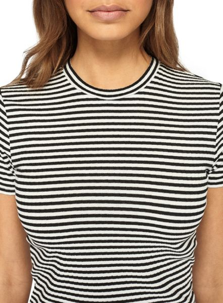 Miss Selfridge Petites Black And White Top