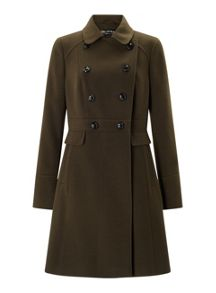 Miss Selfridge Khaki Double Breasted Coat