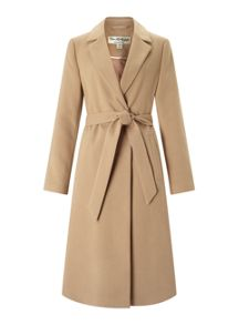 Miss Selfridge Camel Belted Midi Coat