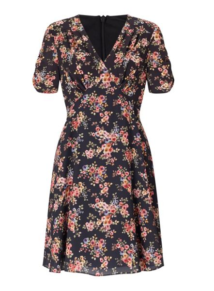 Miss Selfridge Floral V Neck Tea Dress
