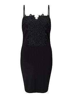 Strappy Lace Bodycon Dress
