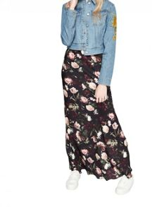 Miss Selfridge Floral Cropped Denim Jacket