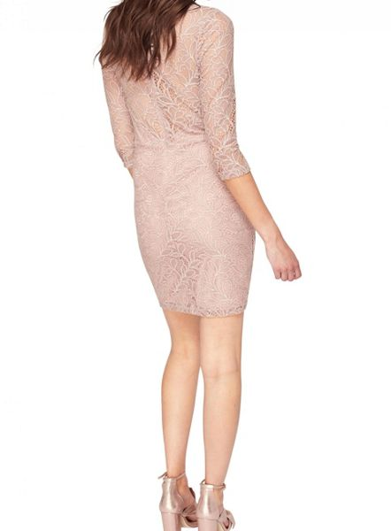 Miss Selfridge Nude Lace Bodycon Dress