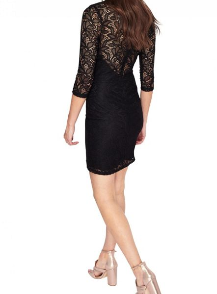 Miss Selfridge Black Lace Bodycon Dress