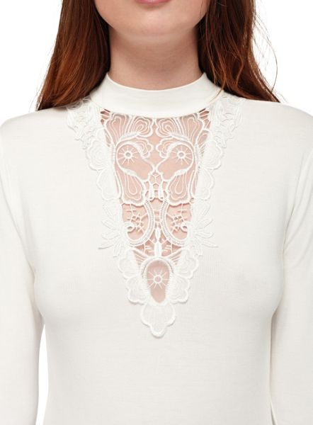 Miss Selfridge Petites Lace Long Sleeve Top