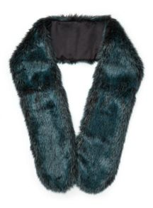 Miss Selfridge Green Faux Fur Stole