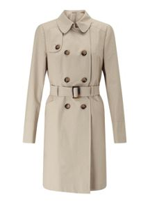 Miss Selfridge Stone Trench Coat