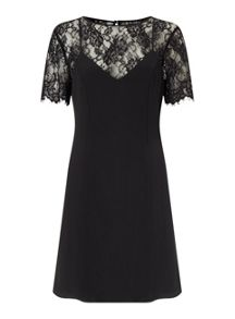Miss Selfridge Lace Tee Cammi Dress