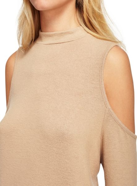Miss Selfridge Camel Knot Back Top
