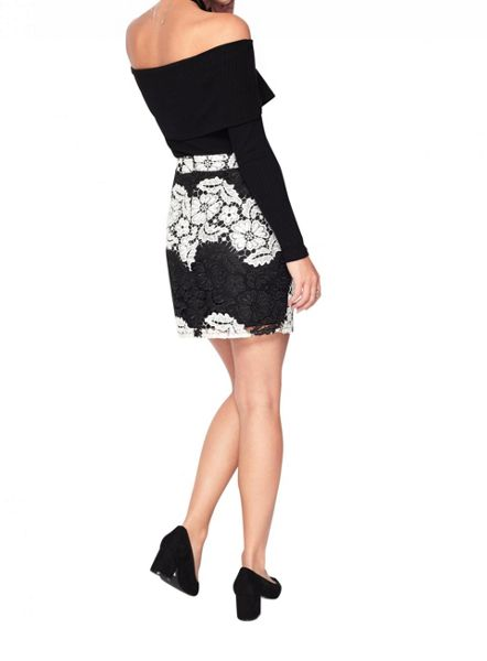 Miss Selfridge Petite Lace Mini Skirt