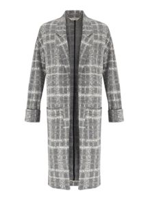 Miss Selfridge Grey Check LonglineDuster