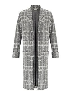 Grey Check LonglineDuster