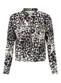 Miss Selfridge Animal Print Bomber