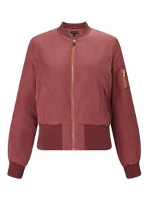 Miss Selfridge Rose Bomber Jacket