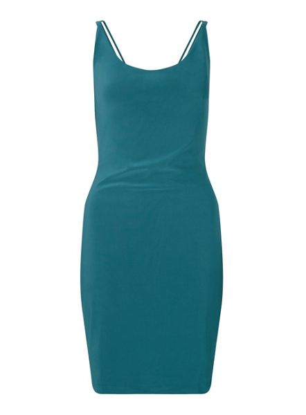 Miss Selfridge Teal Slinky Dress