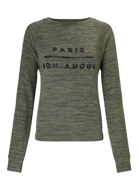 Miss Selfridge Petites Paris Sweatshirt