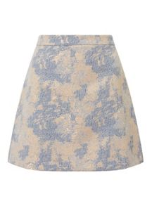 Miss Selfridge Pastel Jacquard Skirt