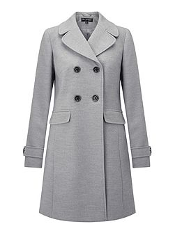 Grey Revere Collar Coat