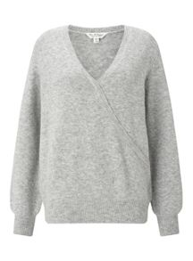 Miss Selfridge Grey Wrap Jumper